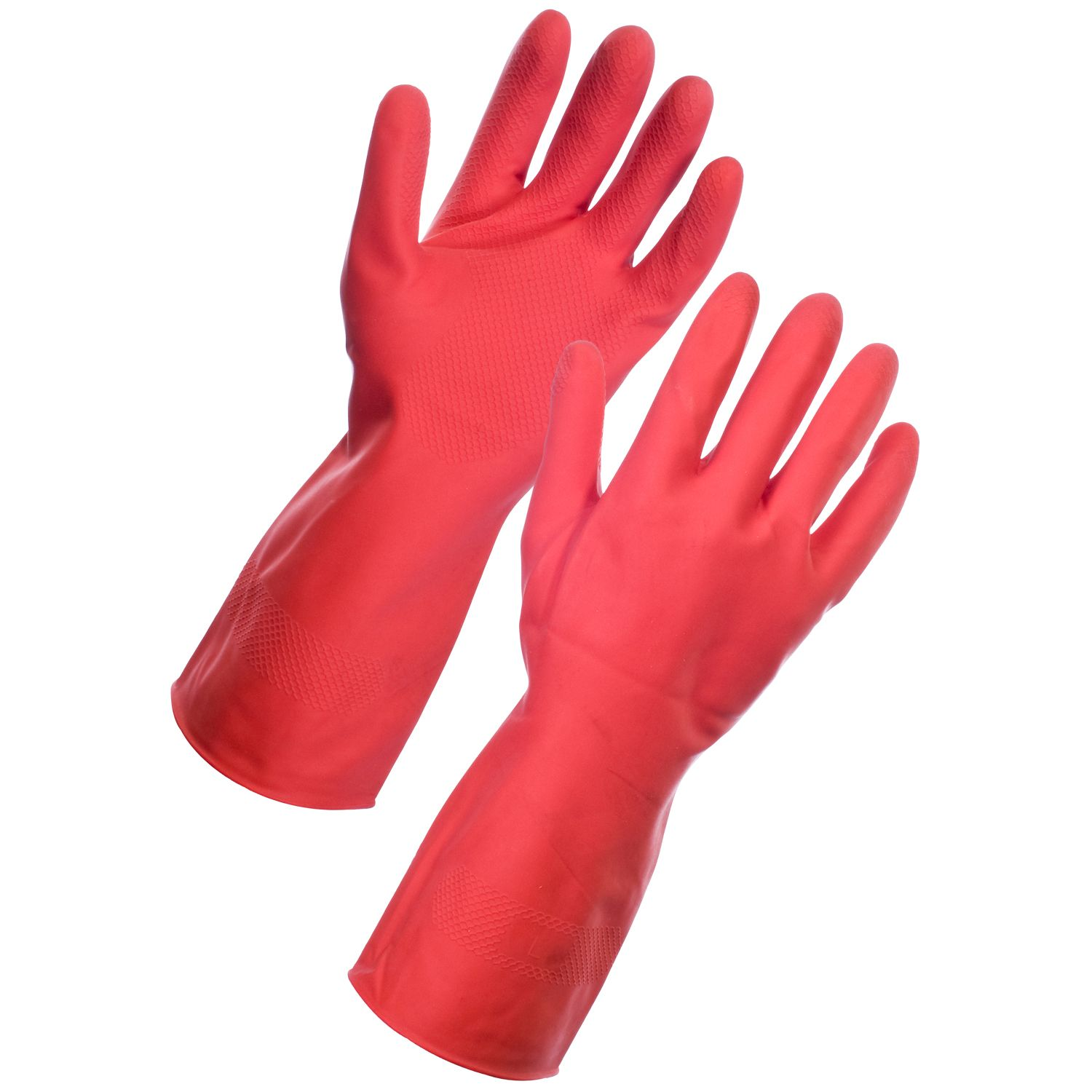 Sti Household Rubber Latex Marigold Red Gloves