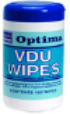 PT95/RH95 RHP Optima Antibac  Surface / Telephone / VDU Wipes Tub 100 Sheets